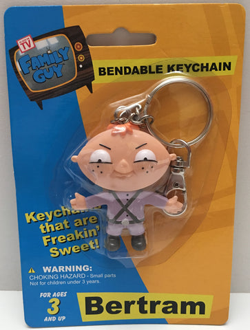 (TAS000053) - 2006 NJ Croce The Family Guy Bendable Keychain - Bertram