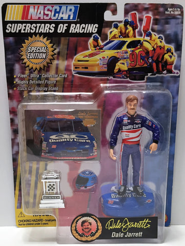 (TAS033881) - 1997 Toy Biz NASCAR Superstars of Racing Action - Dale Jarrett, , Action Figure, NASCAR, The Angry Spider Vintage Toys & Collectibles Store  - 1