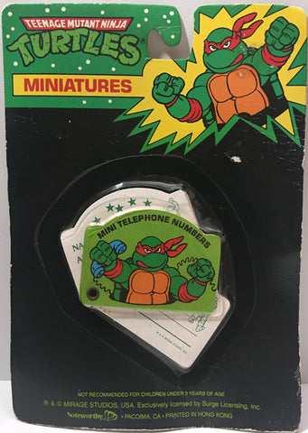 (TAS000092) - 1990 Mirage Studios Teenage Mutant Ninja Turtles Miniatures Mini Telephone Numbers