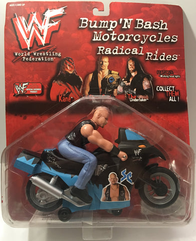 (TAS000082) - 1999 Titan Sports WWF Bump 'N Bash Motorcycles Stone Cold Steve Au