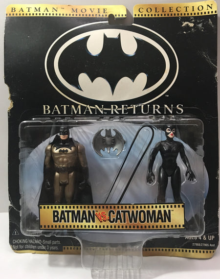 (TAS000033) - 1997 Kenner Batman Returns - Batman vs. CatWoman Figures