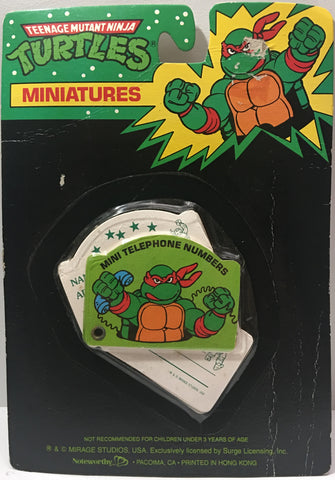 (TAS000093) - 1990 Mirage Studios Teenage Mutant Ninja Turtles Miniatures Mini Telephone Numbers