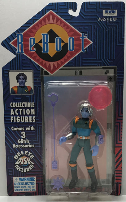 TAS040748 - 1995 Irwin Toy Reboot Collectible Action Figure - Bob