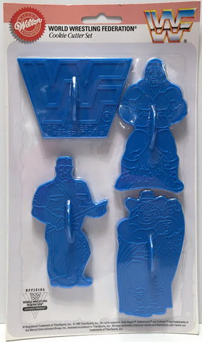 (TAS034038) - 1992 Titan Sports WWFWrestling Cookie Cutter Set - 4 Pack, , Kitchen, Wrestling, The Angry Spider Vintage Toys & Collectibles Store  - 1
