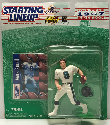 TAS040766 - 1996 Hasbro Starting Lineup NFL Action Figure - Mark Brunell