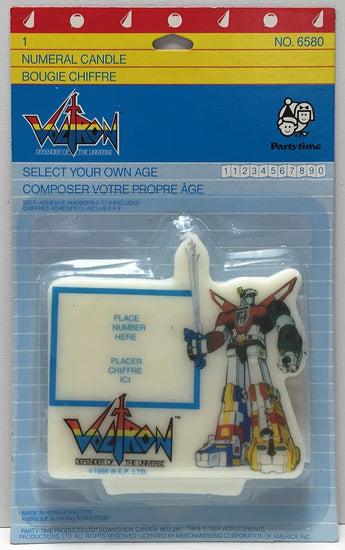 "(TAS034068) - 1984 Voltron Defender of the Universe ""Create your Own Age"" Candle, , Lights, Voltron, The Angry Spider Vintage Toys & Collectibles Store  - 1"