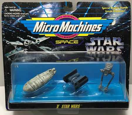 TAS040768 - 1995 Galoob Star Wars Micro Machines Space Die-Cast - V Star Wars