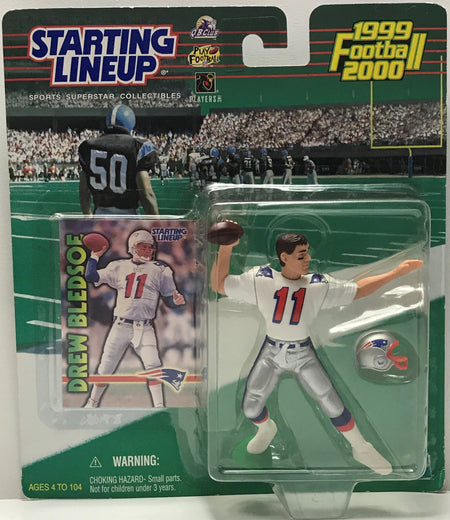 TAS040770 - 1999 Hasbro Starting Lineup NFL New England Patriots Drew Bledsoe