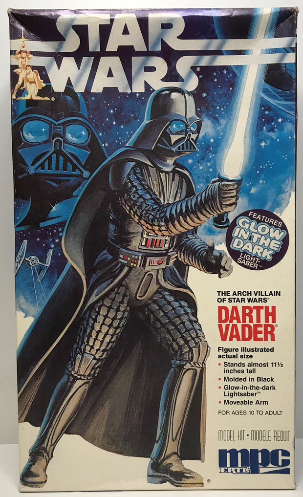 "TAS041126 - 1992 ERTL Star Wars Model Kit - 11.5"" Darth Vader Glow In The Dark"