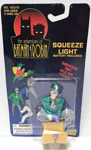 (TAS034046) - 1994 Janex Corp Batman & Robin Squeeze Light - Riddler, , Lights, Batman, The Angry Spider Vintage Toys & Collectibles Store  - 1