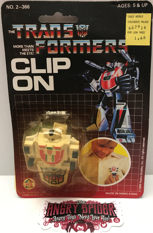(TAS000115) - 1984 HG Toys The Transformers Clip On Figure - Wheel Jack