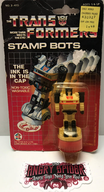 (TAS000117) - 1984 HG Toys The Transformers Stamp Bots - Jazz
