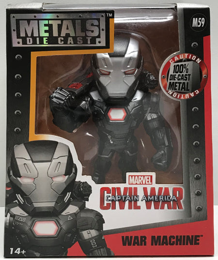 "TAS041153 - 2016 Jada Toys Metals Die-Cast Marvel Captain America - 4"" War Machine M59"