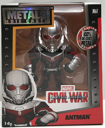 "TAS041155 - 2016 Jada Toys Metals Die-Cast Captain America Marvel - 4"" Antman M61"