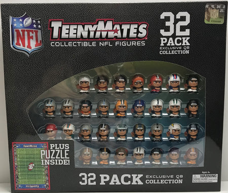 TAS041157 - 2016 Party Animal TeenyMates NFL 32 Pack Exclusive QB Collection Figures