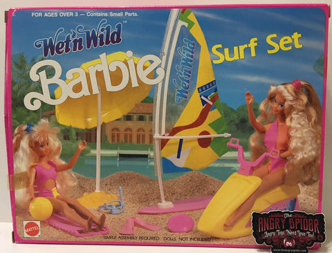 (TAS035404) - 1989 Mattel Barbie Wet 'n Wild Surf Set