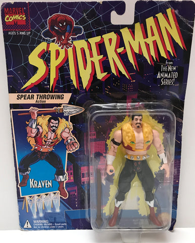 (TAS037259) - 1994 Toy Biz Spider-Man Spear Throwing - Kraven