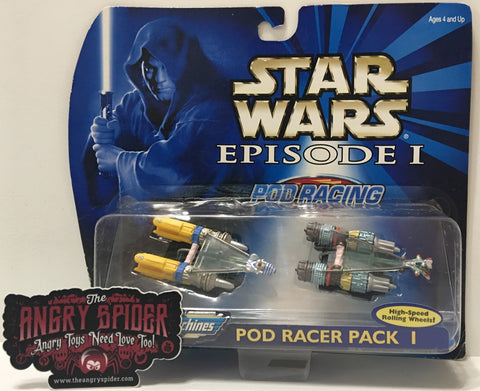 (TAS035410) - 1998 Galoob Micro Machines Star Wars Pod Racer Pack I