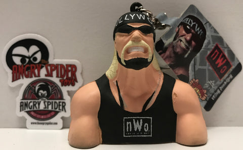 (TAS021402) - 1998 ALPI WCW Squeezies Black n.W.o - Hollywood Hogan Key Chain