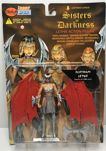 TAS041212 - 1998 Skybolt Toyz Sisters Of Darkness Platinum Letha Action Figure