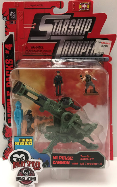 (TAS021419) - 1996 Galoob Toys Starship Troopers - MI Pulse Cannon w/Troopers