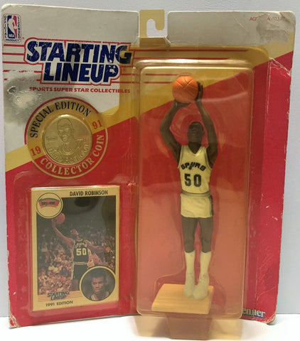 (TAS034075) - 1991 Kenner Starting Lineup Sports Superstar - David Robinson, , Action Figure, Starting Lineup, The Angry Spider Vintage Toys & Collectibles Store  - 1
