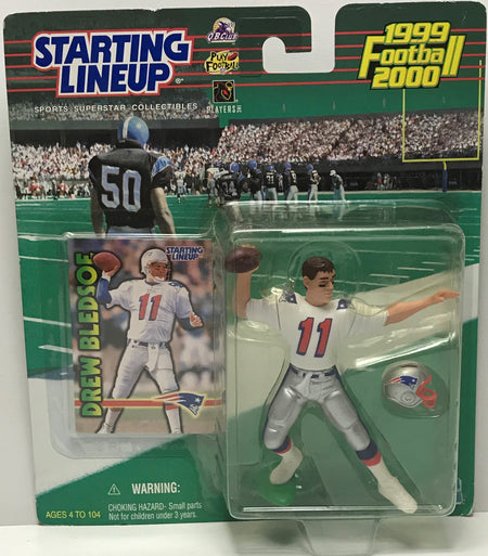 TAS041226 - 1999 Hasbro Starting Lineup NFL New England Patriots Drew Bledsoe