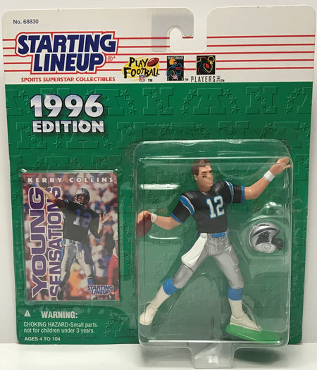 TAS041228 - 1996 Kenner Starting Lineup NFL Carolina Panthers Kerry Collins