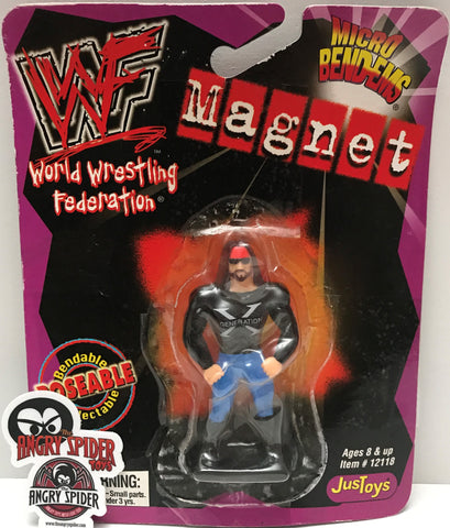 "(TAS021435) - 1999 Just Toys WWF Micro Bend-Ems Magnet - X-Pac ""DX"""