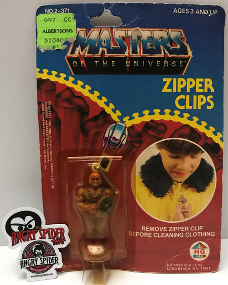 (TAS021436) - 1984 Mattel HG Toys Masters Of The Universe Zipper Clips - He-Man