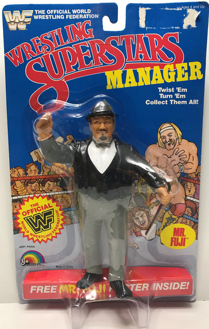 TAS039879 - 1985 LJN Toys WWF WWE Wrestling Superstars Manager - Mr. Fuji