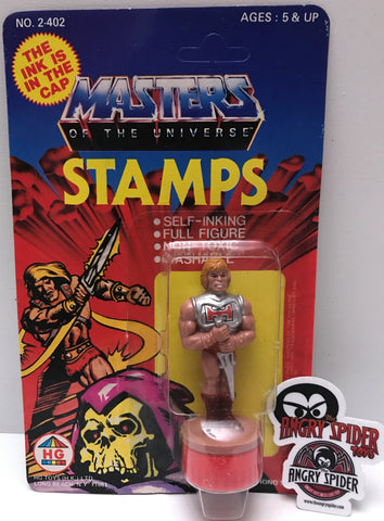 TAS037412 - 1984 HG Toys Masters Of The Universe Ink Stamps - He-Man