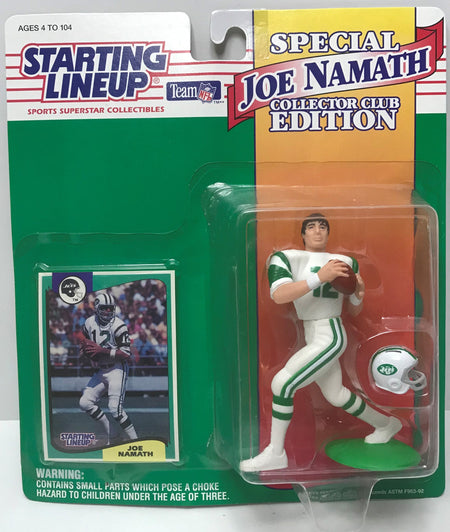 TAS041265 - 1994 Kenner Starting Lineup Action Figure NFL Jets - Joe Namath #12