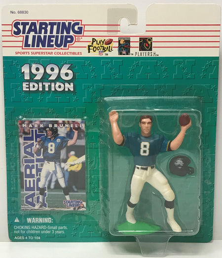 TAS041266 - 1996 Kenner Starting Lineup Figure NFL Panthers - Mark Brunell #8