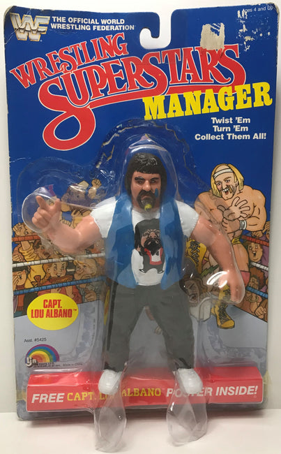 TAS041268 - 1995 Titan Sports LJN WWF Wrestling Superstars Manager - Capt. Lou Albano