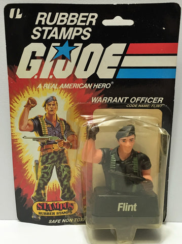 (TAS037173) - 1985 Stampos G.I. Joe Rubber Ink Stamp - Flint