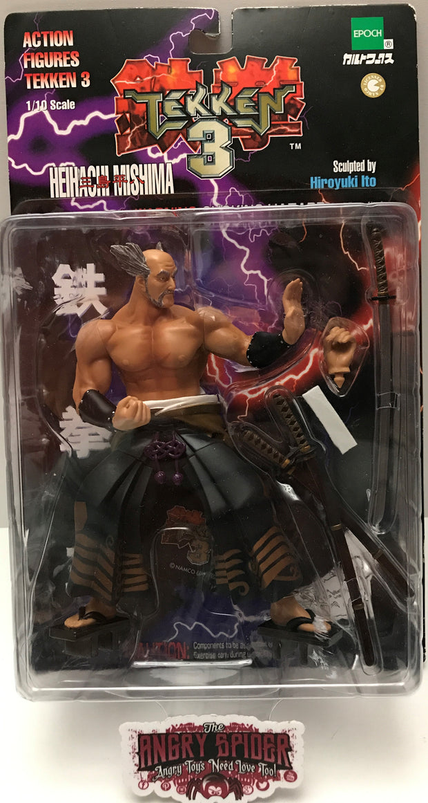 Tas000931 1999 Namco Tekken 3 Action Figure Heihachi Mishima The Angry Spider Vintage Toys Collectibles Store
