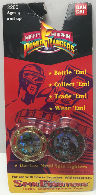 TAS041376 - 1994 Bandai Mighty Morphin Power Rangers Series II Spin Fighters Squatt