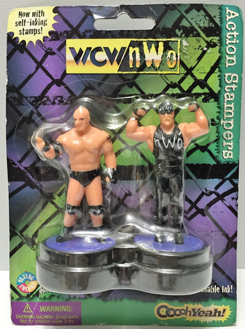 (TAS037202) - 1998 Flying Colors WCW Action Stampers - Hogan Goldberg