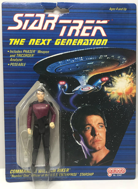 TAS041382 - 1988 Galoob Star Trek The Next Generation Commander William Riker