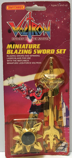(TAS037219) - 1984 MatchBox Voltron Miniature Blazing Sword Set