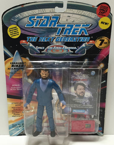 (TAS037227) - 1994 Playmates Star Trek The Next Generation Commander Riker
