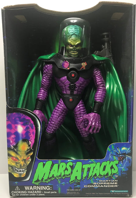 TAS041342 - 1996 Trendmasters Mars Attacks Action Figure - Martian Supreme Commander