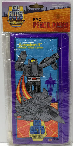 (TAS037241) - 1984 Tonka GOBOTS PVC Pencil Pouch Leader-1 Friendly Robot