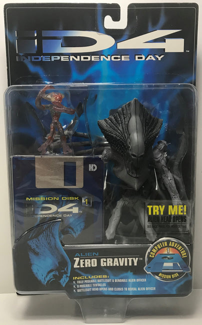 TAS041350 - 1996 Trendmasters Independence Day iD4 Alien Zero Gravity Action Figure