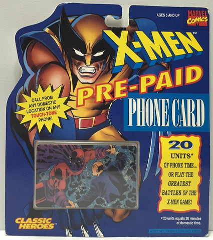 (TAS034251) - 1994 Marvel X-Men Pre-Paid Phone Card - Magneto, , Other, X-Men, The Angry Spider Vintage Toys & Collectibles Store  - 1