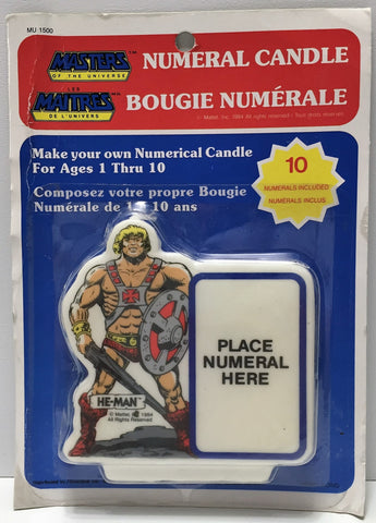 (TAS033930) - 1984 Mattel Masters of the Universe Numeral Candle - He-Man, , Lights, MOTU, The Angry Spider Vintage Toys & Collectibles Store  - 1