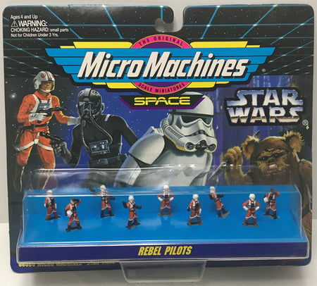 TAS041359 - 1994 Galoob Star Wars Micro Machines Space Rebel Pilots