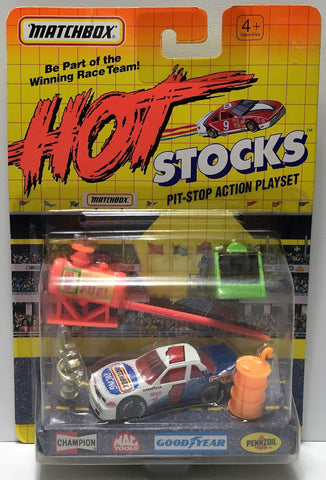 (TAS034253) - Matchbox Hot Stocks Pit-Stop Playset - Matchbox #1, , Trucks & Cars, Matchbox, The Angry Spider Vintage Toys & Collectibles Store  - 1
