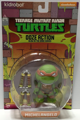 (TAS033939) - 2014 Vitcom Teenage Mutant Ninja Turtles Ooze Glow Michelangelo, , Action Figure, TMNT, The Angry Spider Vintage Toys & Collectibles Store  - 1